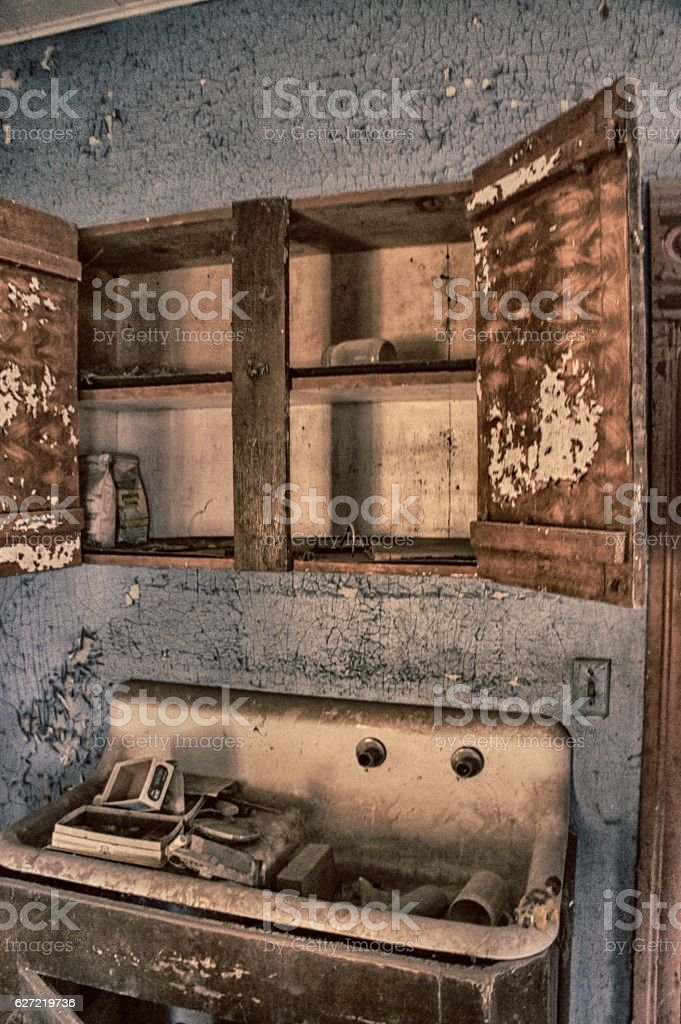 Everything but the kitchen sink stock photo