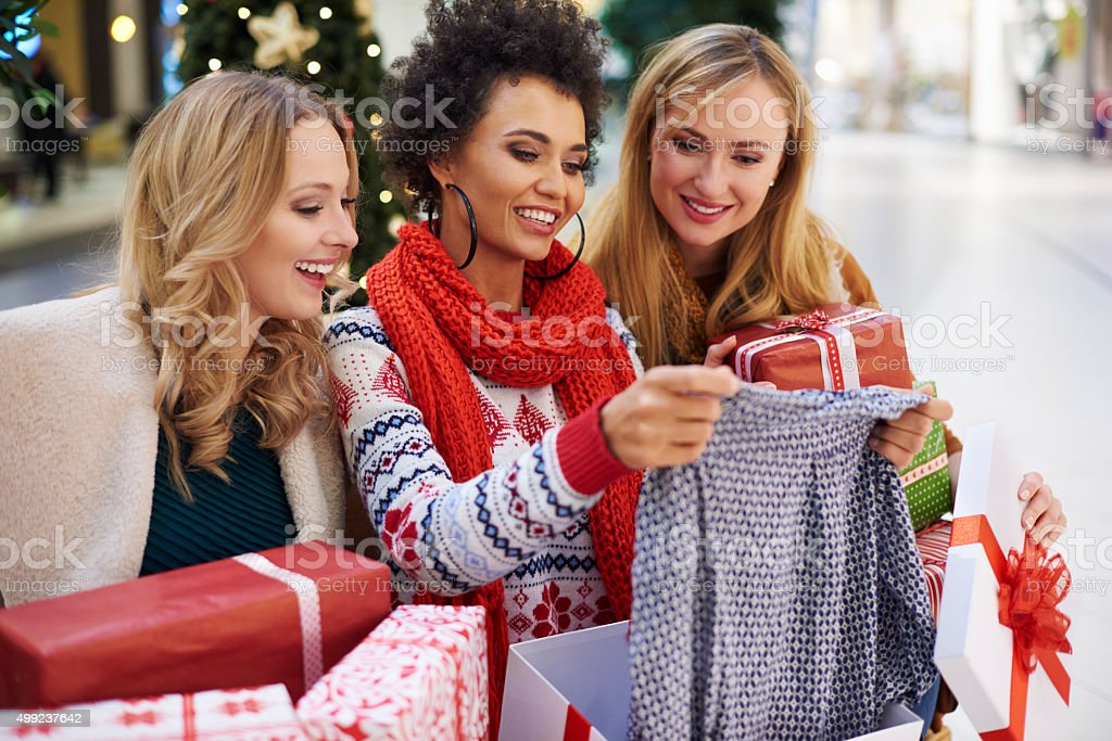 Everything has been bought for Christmas gifts stock photo