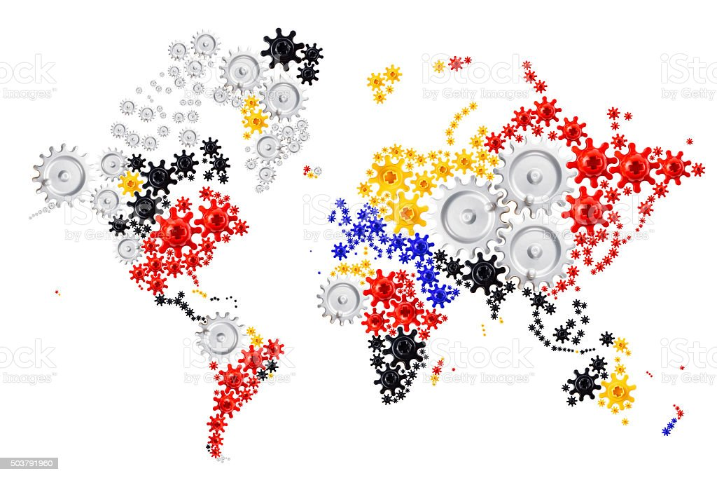 everything is globally connected stock photo