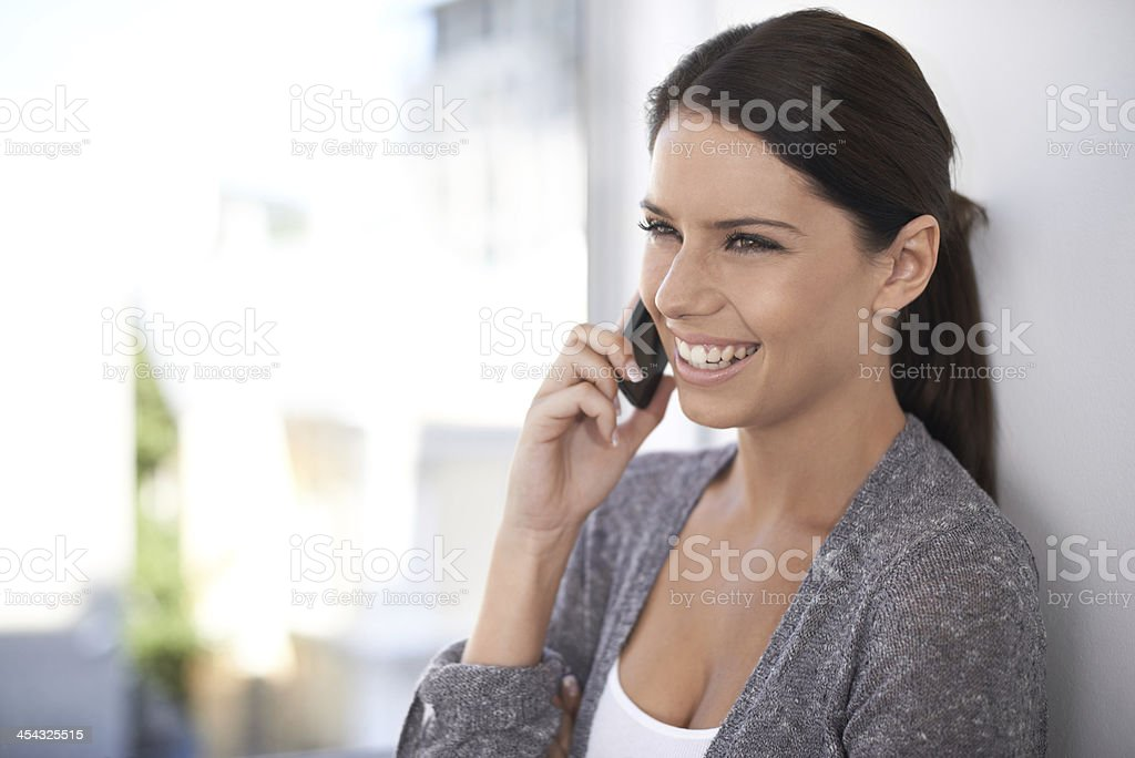 Everything is going fine! stock photo