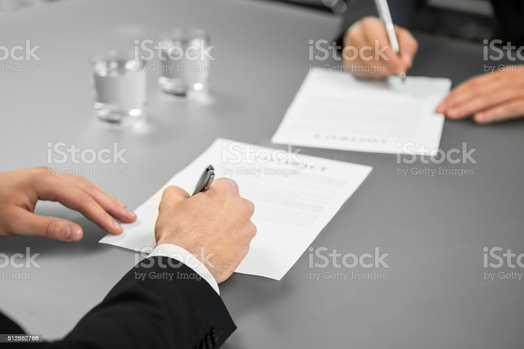 Everything is official. stock photo