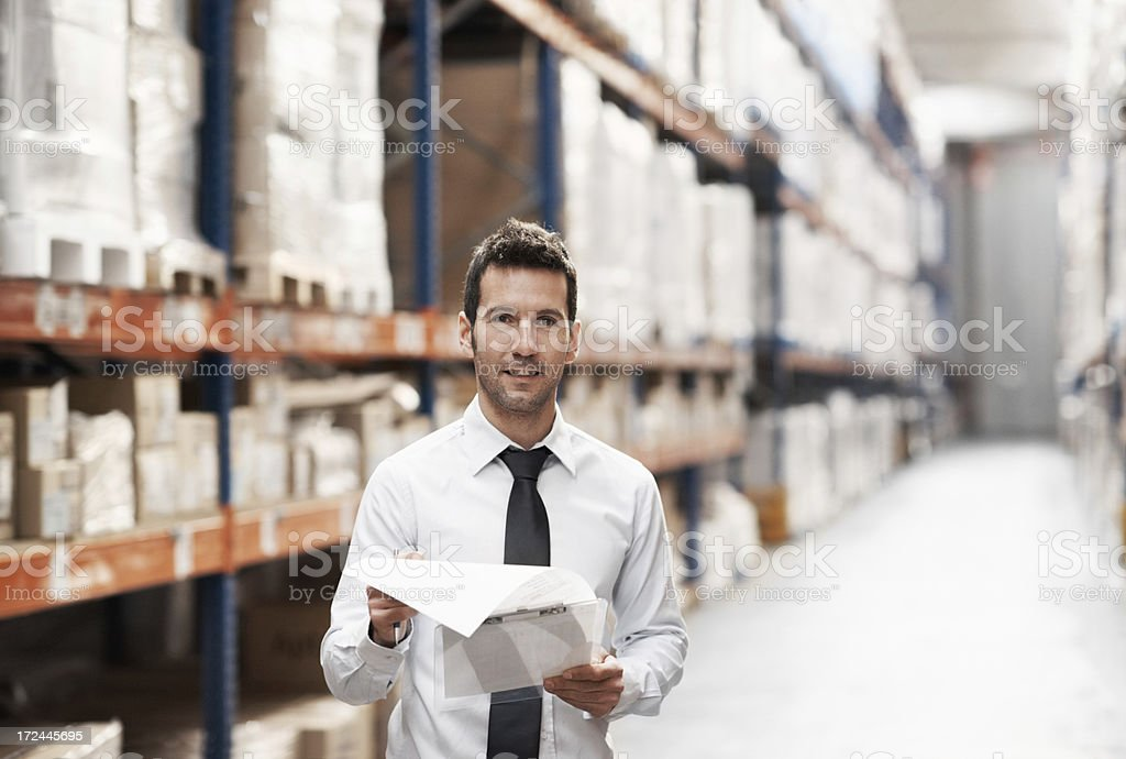 Everything on the waybill is here... stock photo