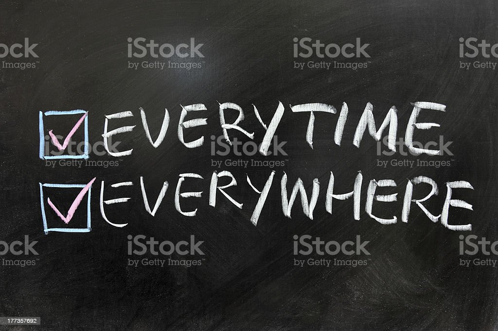 Everytime and everywhere royalty-free stock photo