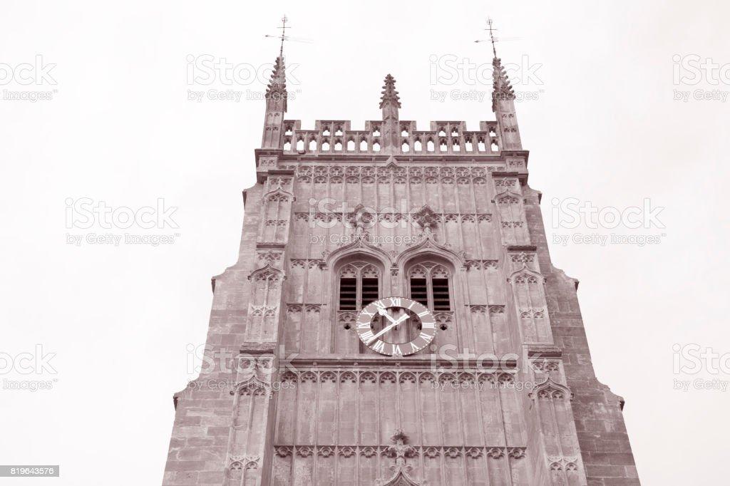 Evesham Bell Tower, Worcestershire, England, UK stock photo