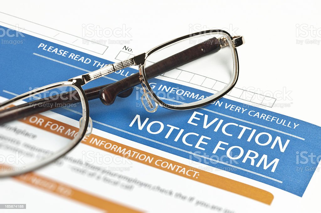 Eviction Notice Form stock photo