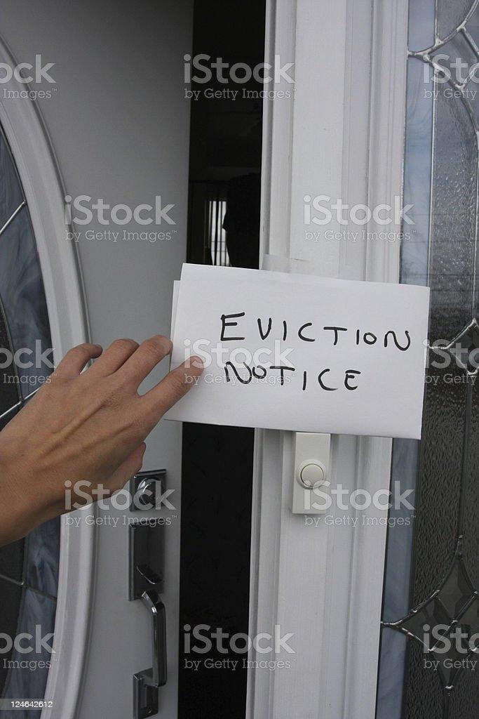 eviction notice stock photo