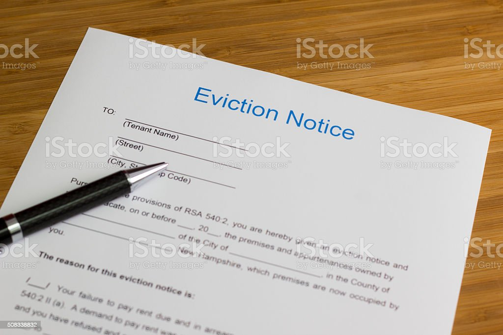 Eviction Notice stock photo