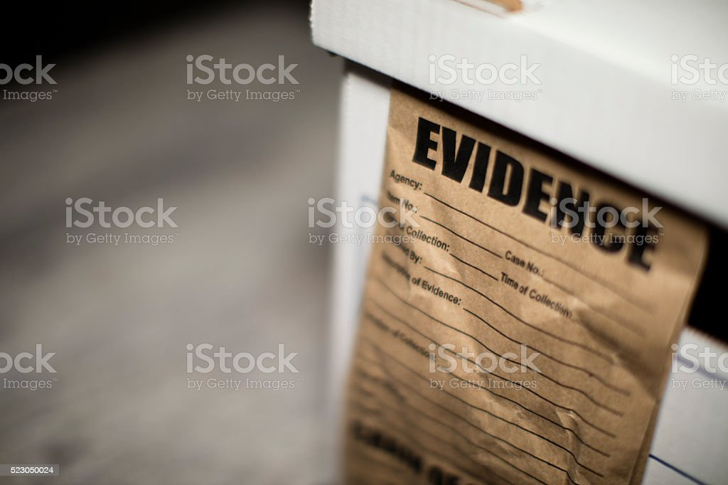 Evidence Box stock photo
