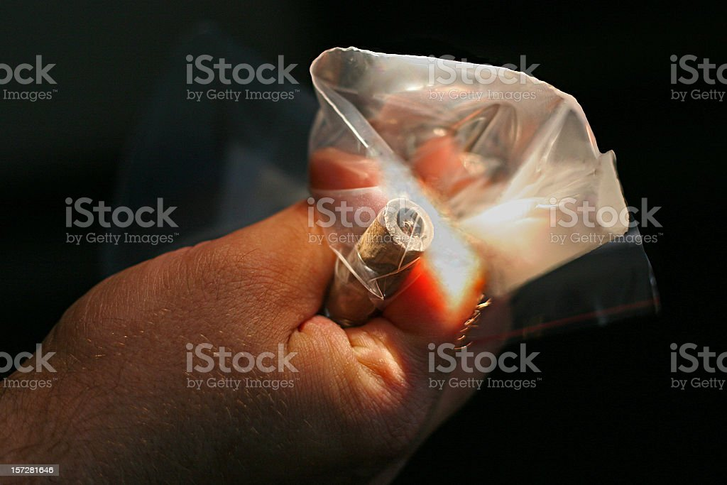 Evidence - Crack Pipe stock photo