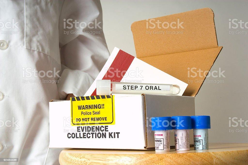 Evidence Kit stock photo