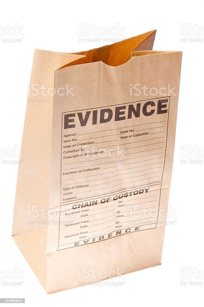 Evidence royalty-free stock photo