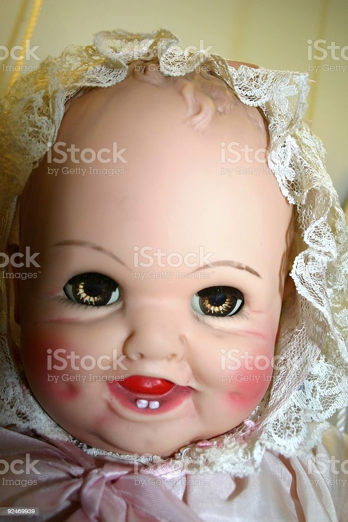 Evil baby in the house royalty-free stock photo