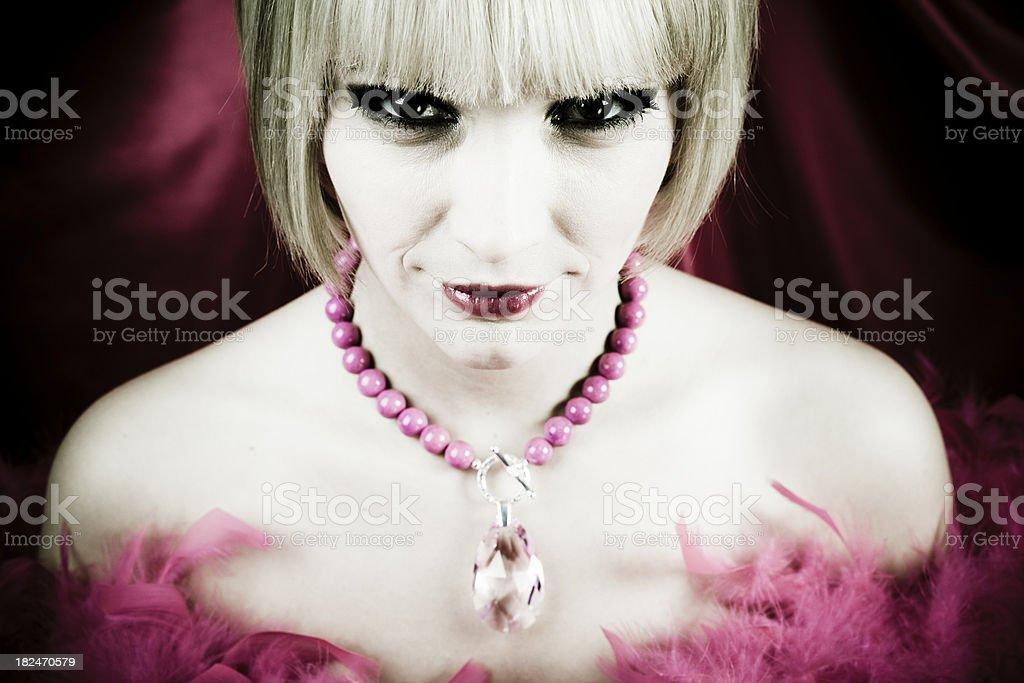 Evil beauty. royalty-free stock photo