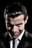 Evil businessman look