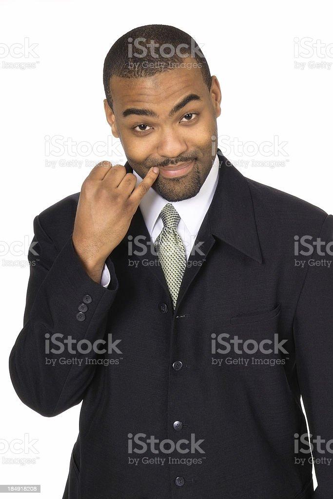 Evil Businessman stock photo