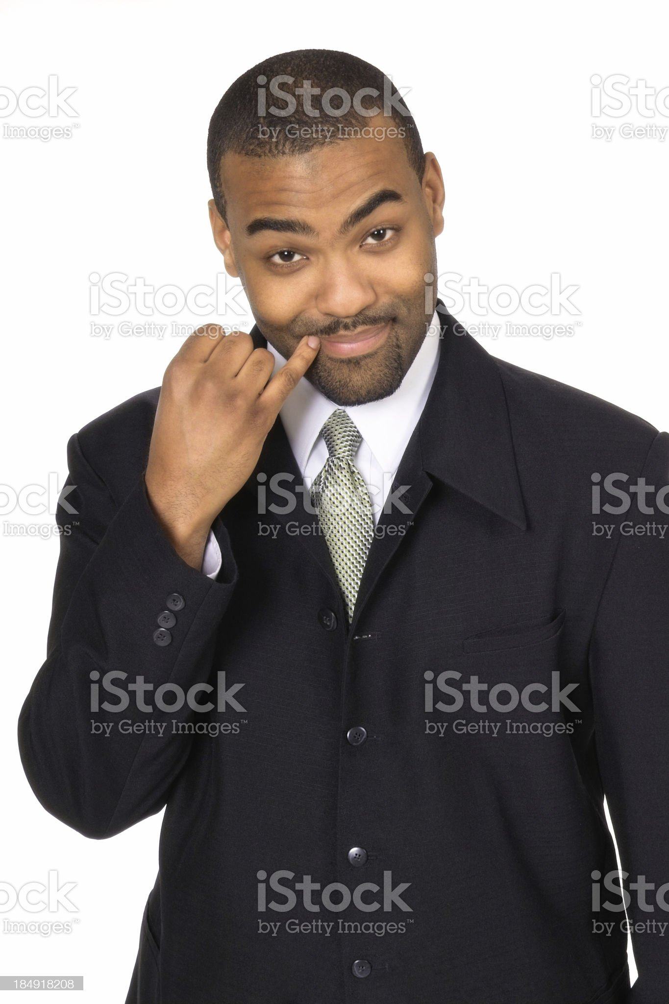 Evil Businessman royalty-free stock photo