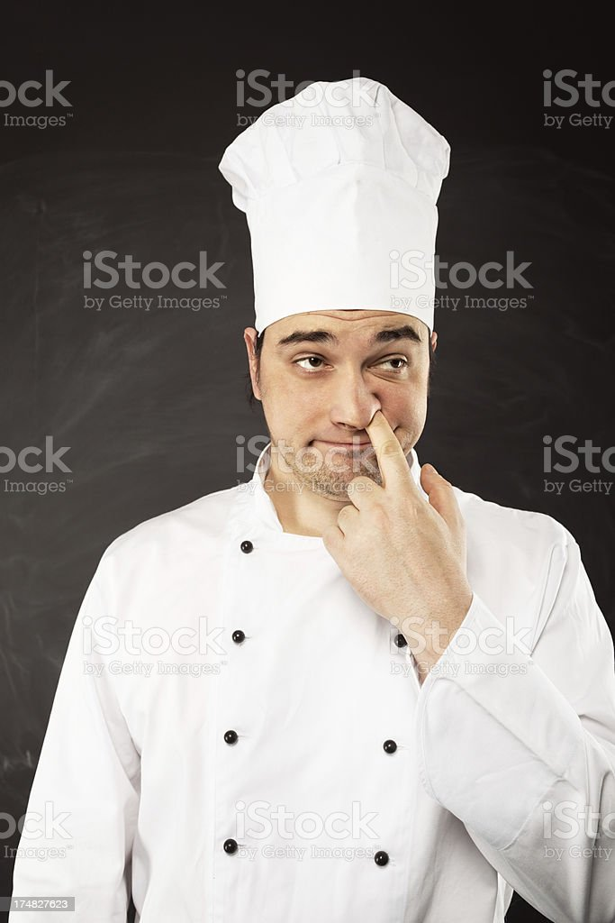 Evil Chef royalty-free stock photo