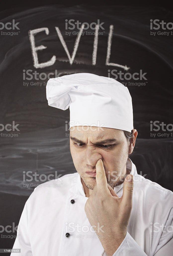 Evil Chef royalty-free stock photo
