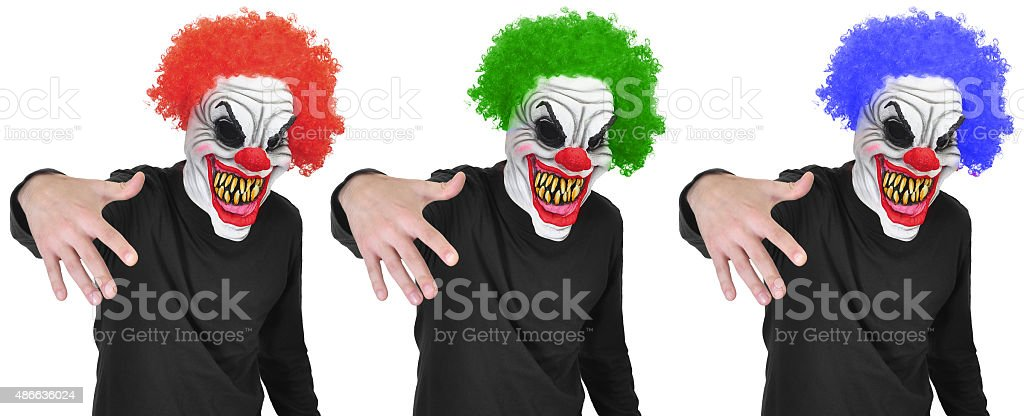 Evil clown stock photo