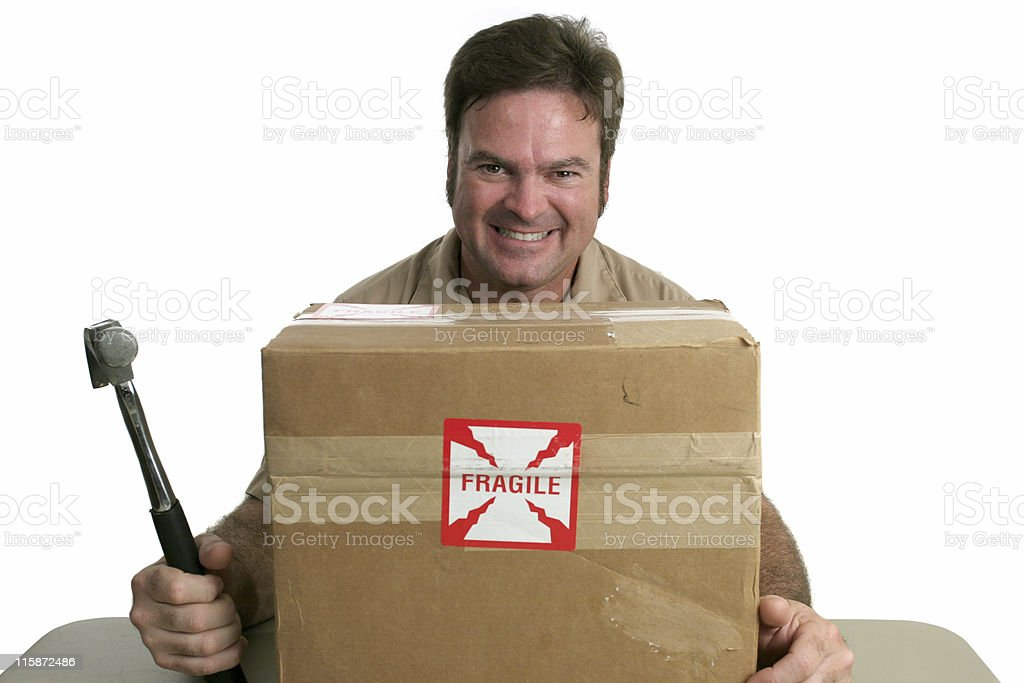 Evil Delivery Man royalty-free stock photo