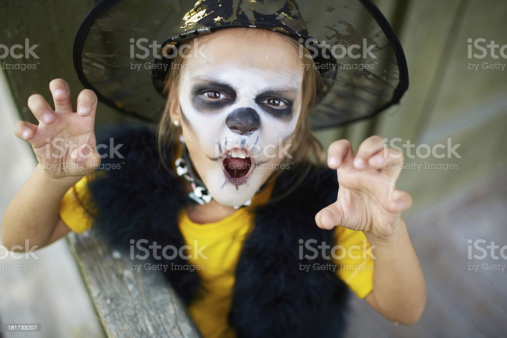 Evil expression royalty-free stock photo