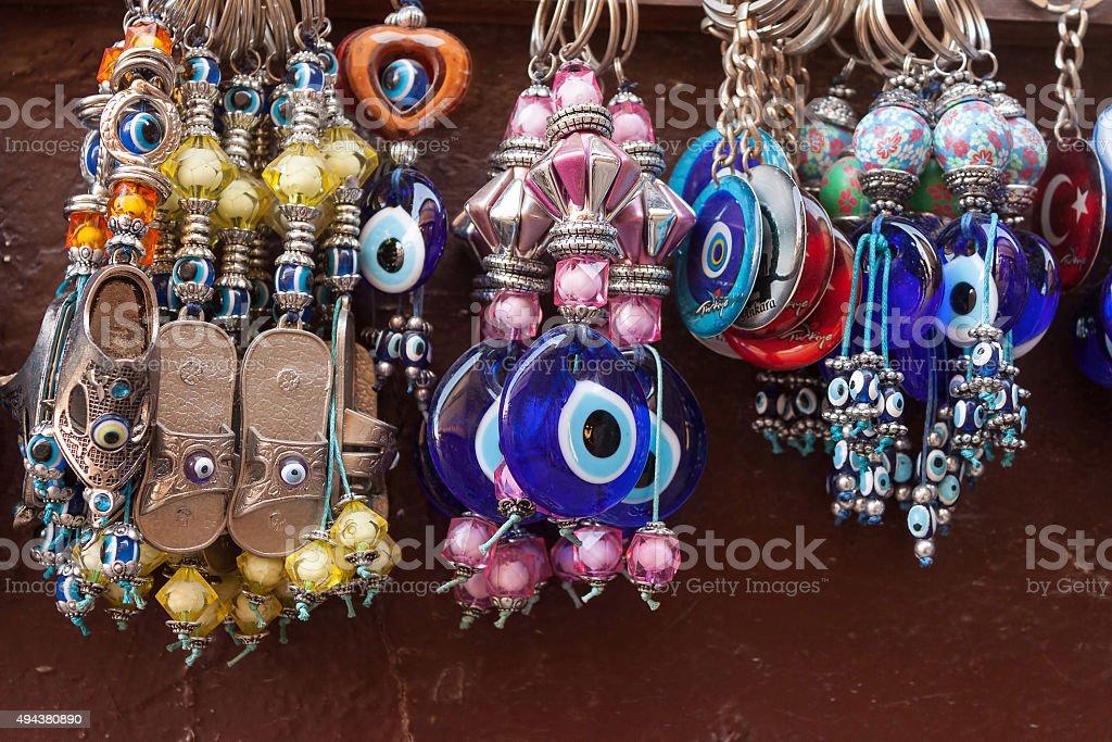 Evil eye Amulet souvenirs stock photo