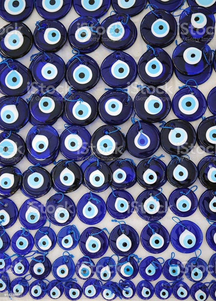Evil eye bead nazar boncugu stock photo