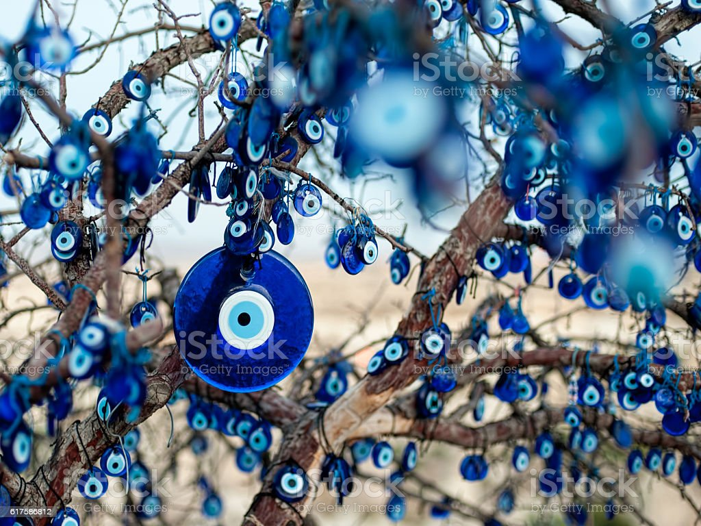 Evil Eye Bead stock photo