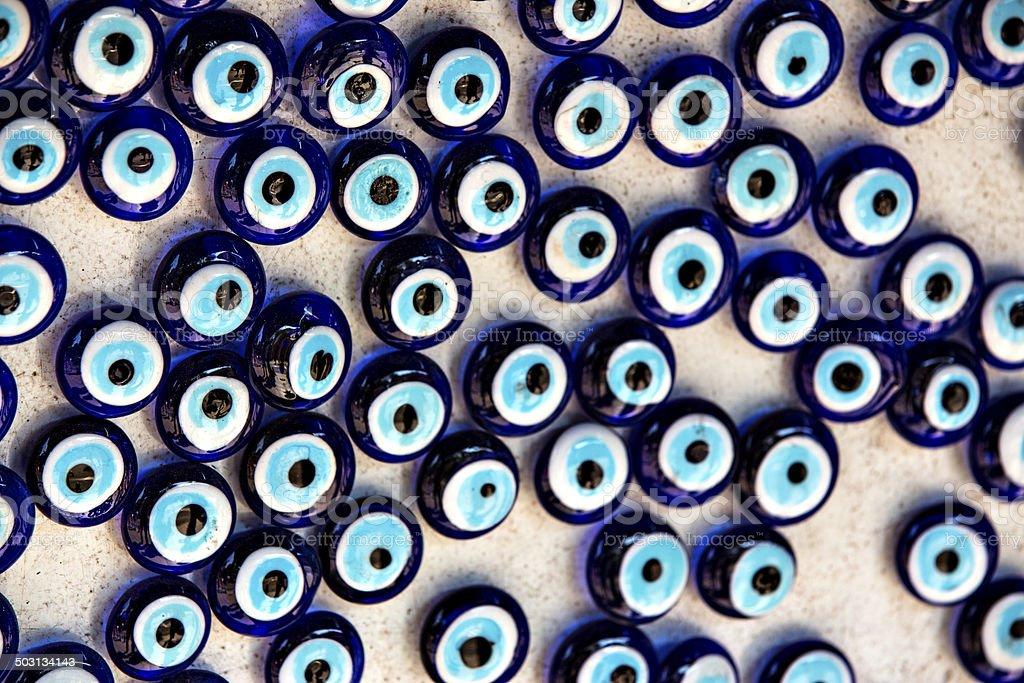 Evil Eye Beads stock photo