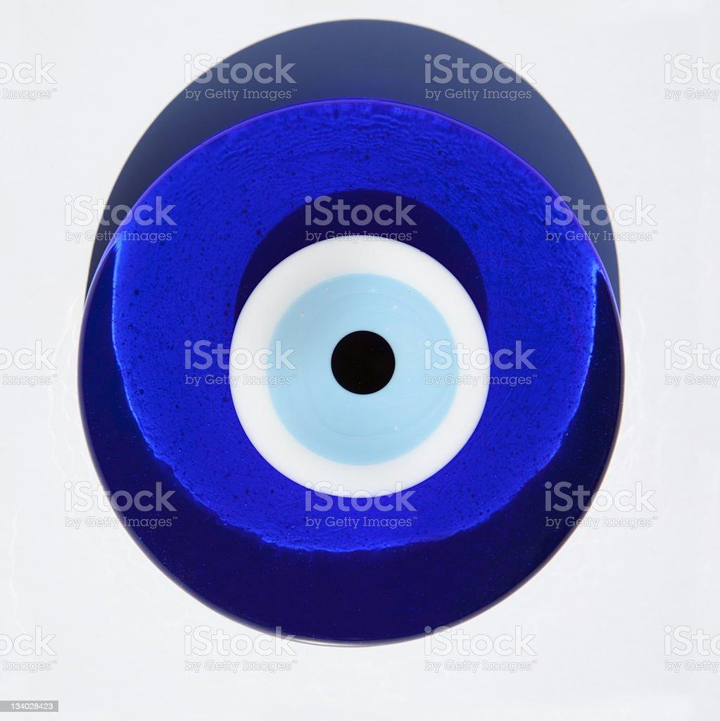 Evil Eye or Nazar amulet stock photo