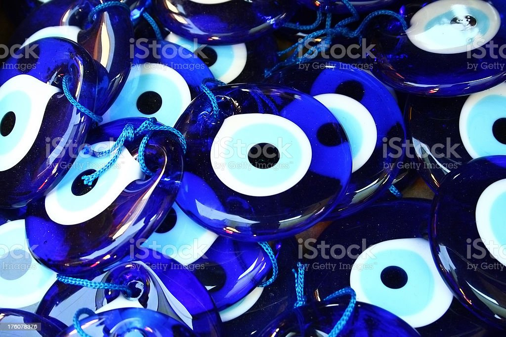 Evil eyes stock photo