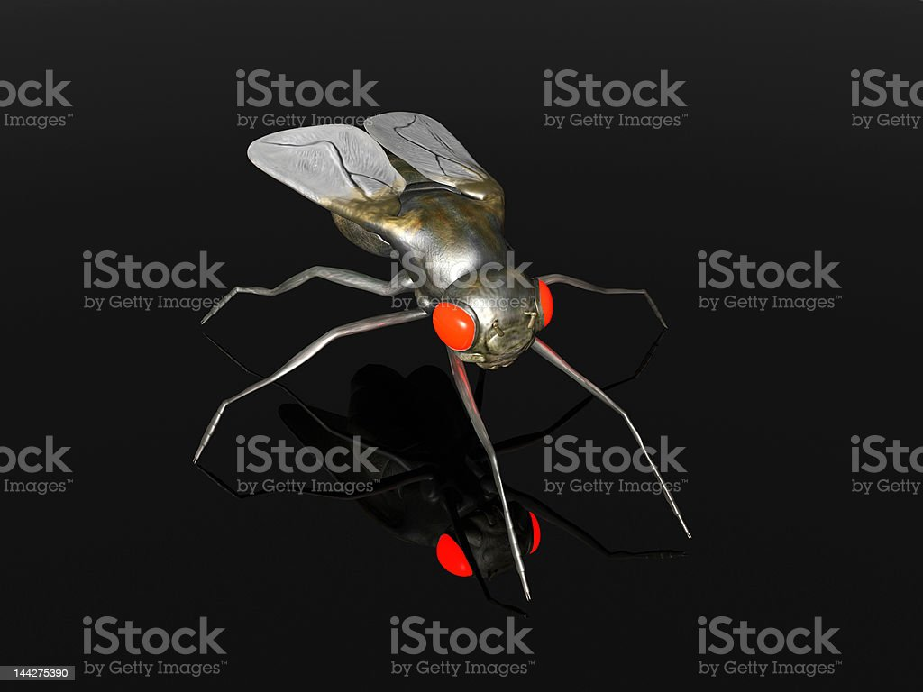 Evil Fly royalty-free stock vector art