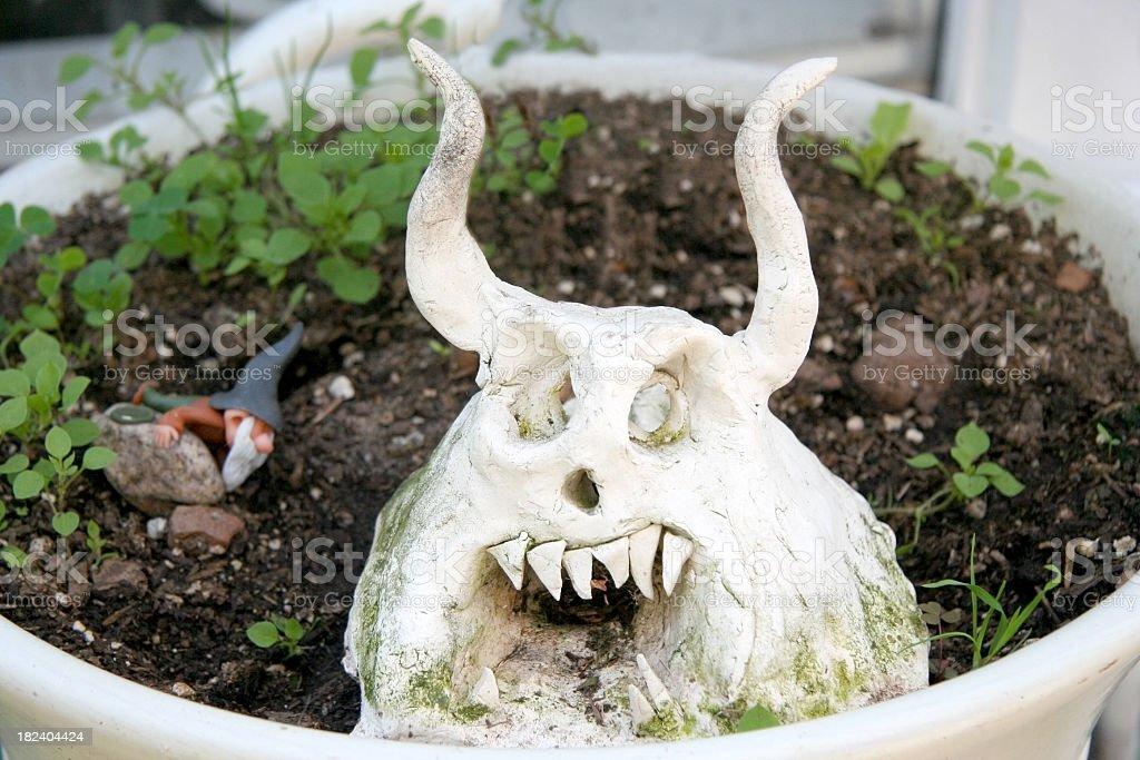 Evil Garden Ogre stock photo