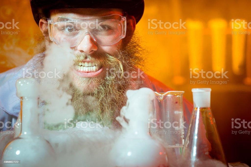 Evil Genius stock photo