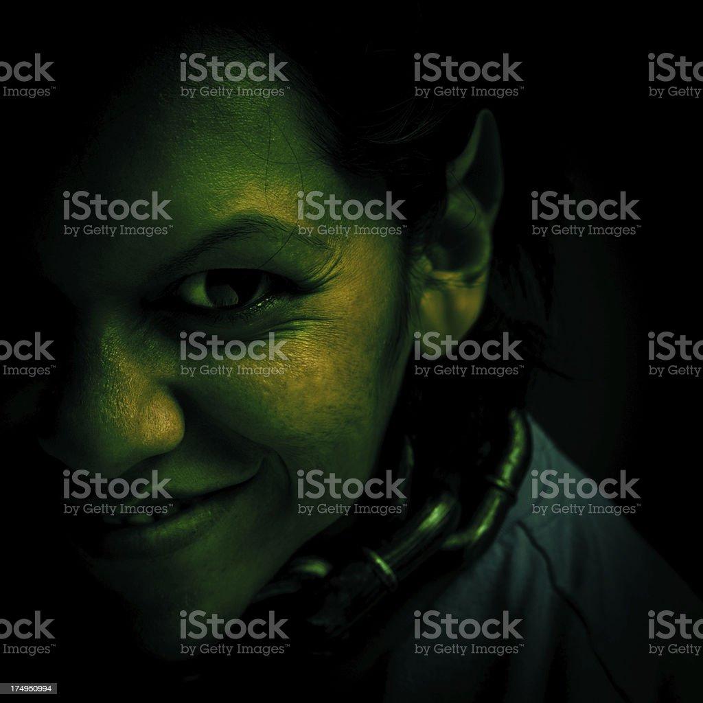 evil green troll royalty-free stock photo