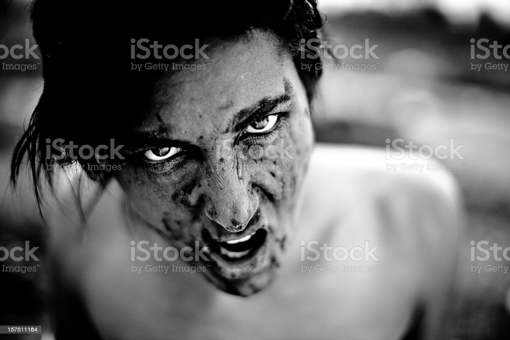 Evil look royalty-free stock photo