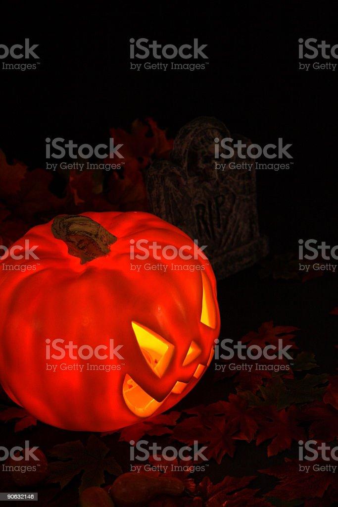 Evil pumpkin royalty-free stock photo