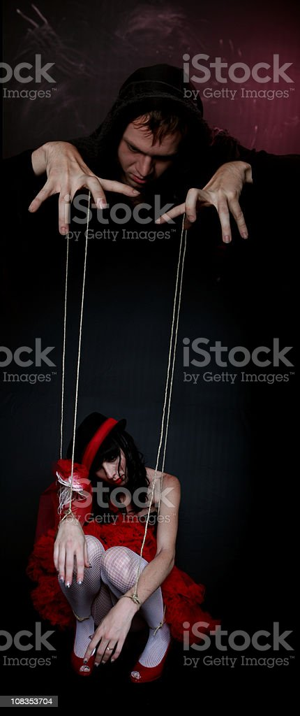 Evil puppeter stock photo