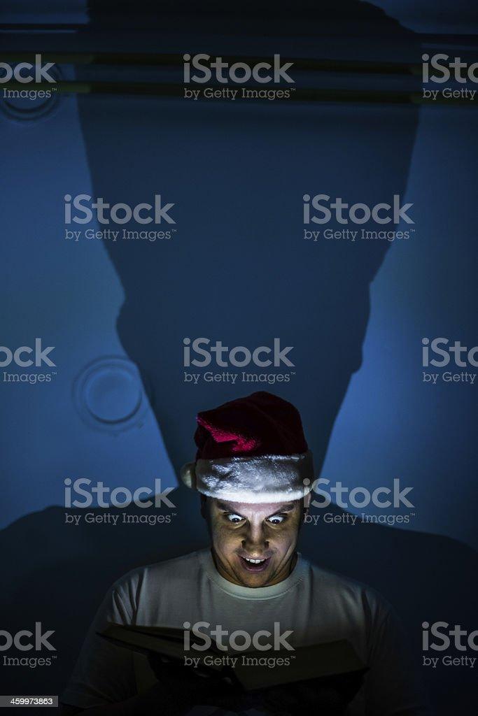 Evil santa stock photo