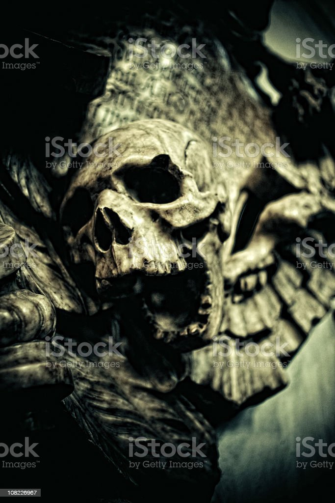 evil skull royalty-free stock photo