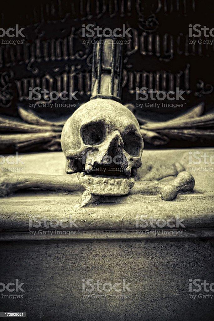 evil skull royalty-free stock photo