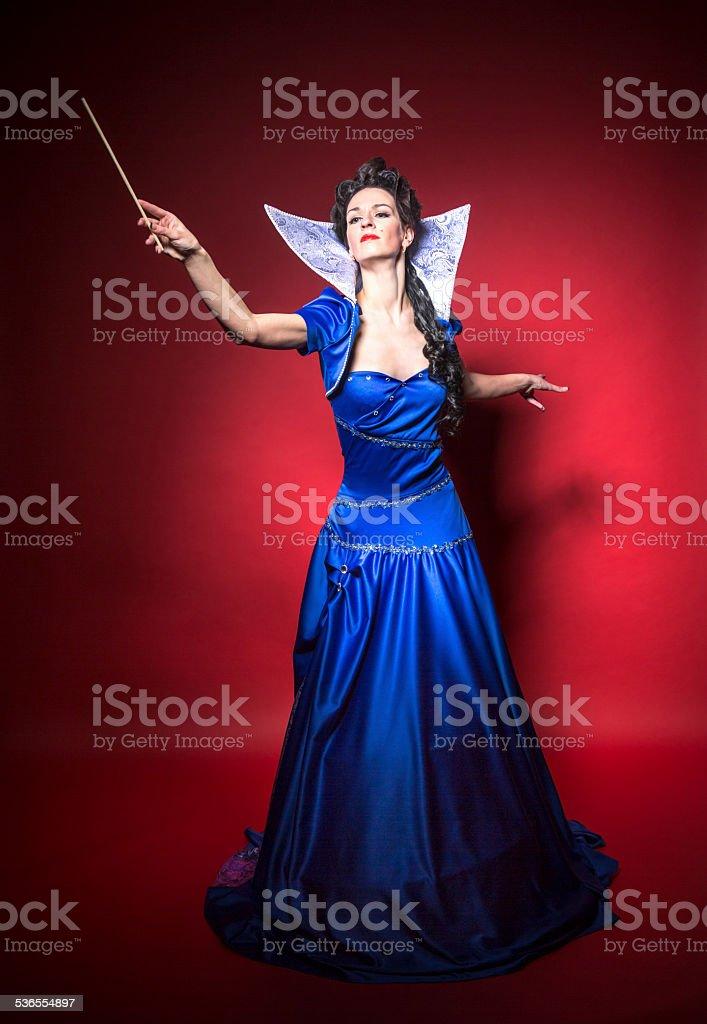 Evil sorceress Queen stock photo
