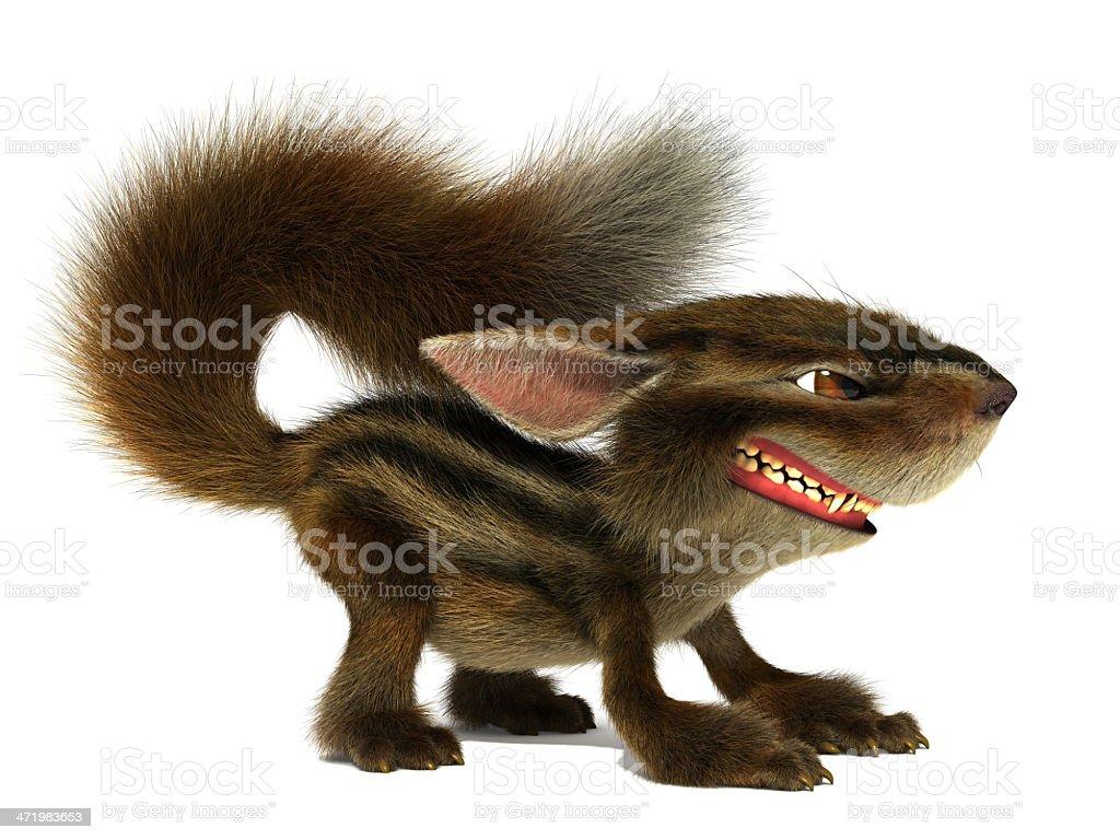 Evil squirrel stock photo