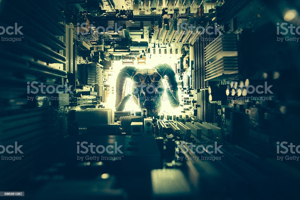 Evil Technology concept stock photo