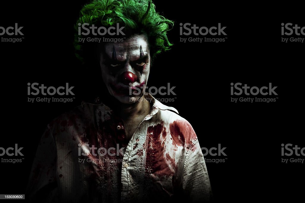 Evil Vampire Clown stock photo