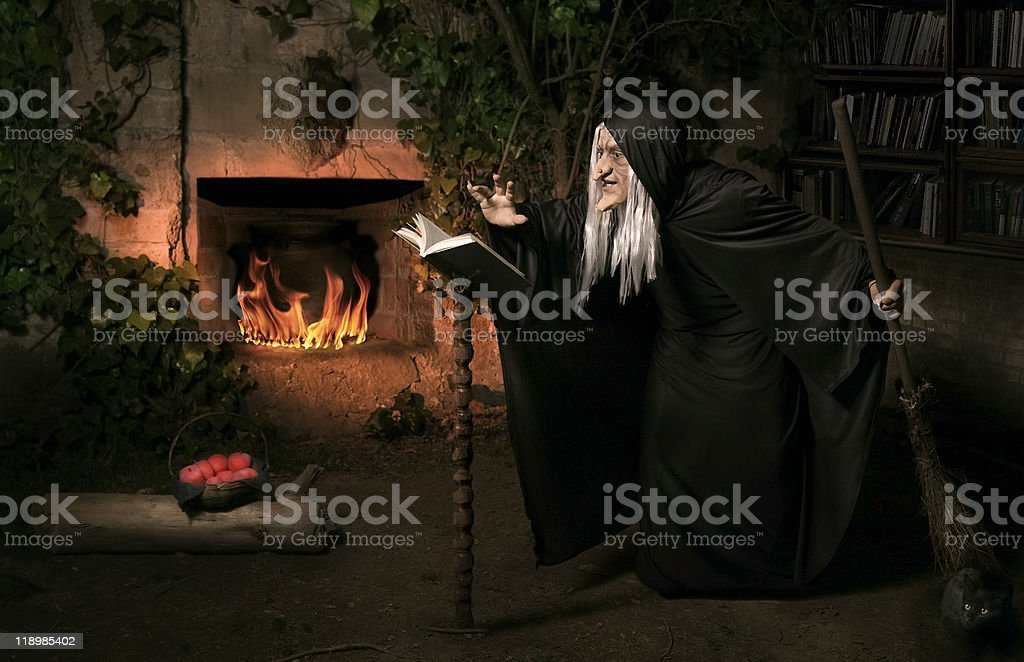 Evil witch stock photo