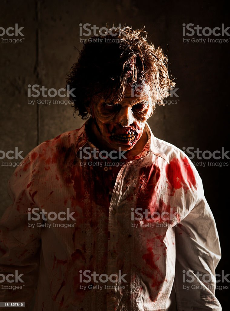 Evil Zombie royalty-free stock photo