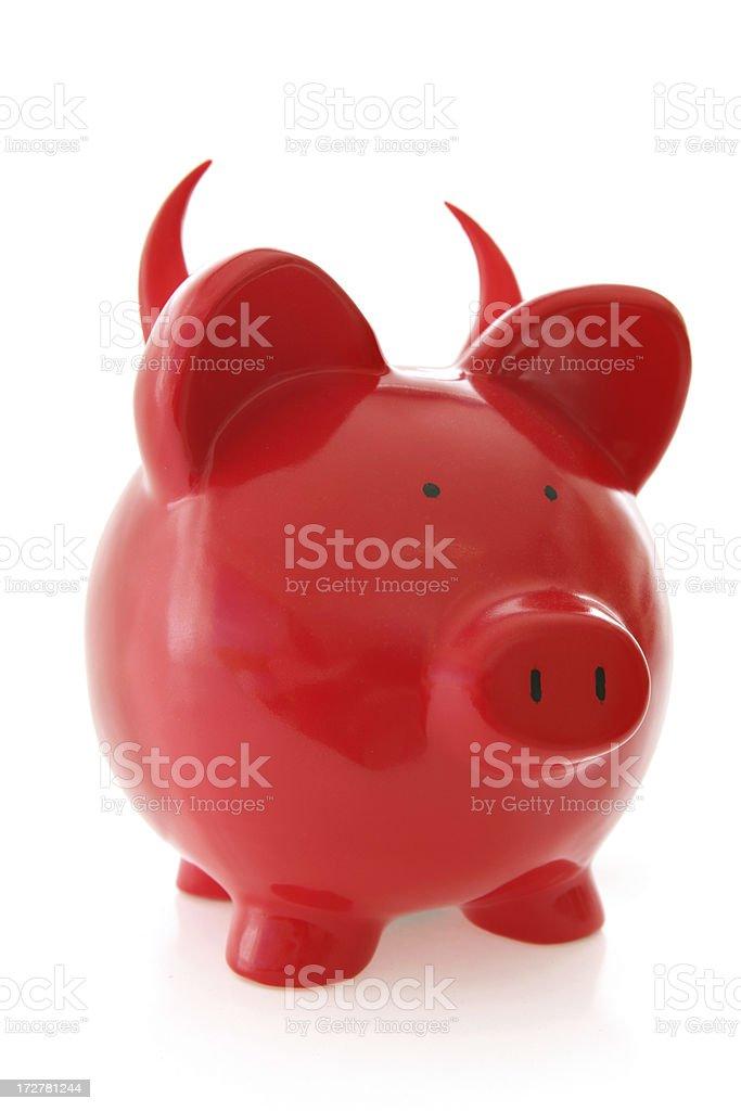 Evils of Money royalty-free stock photo
