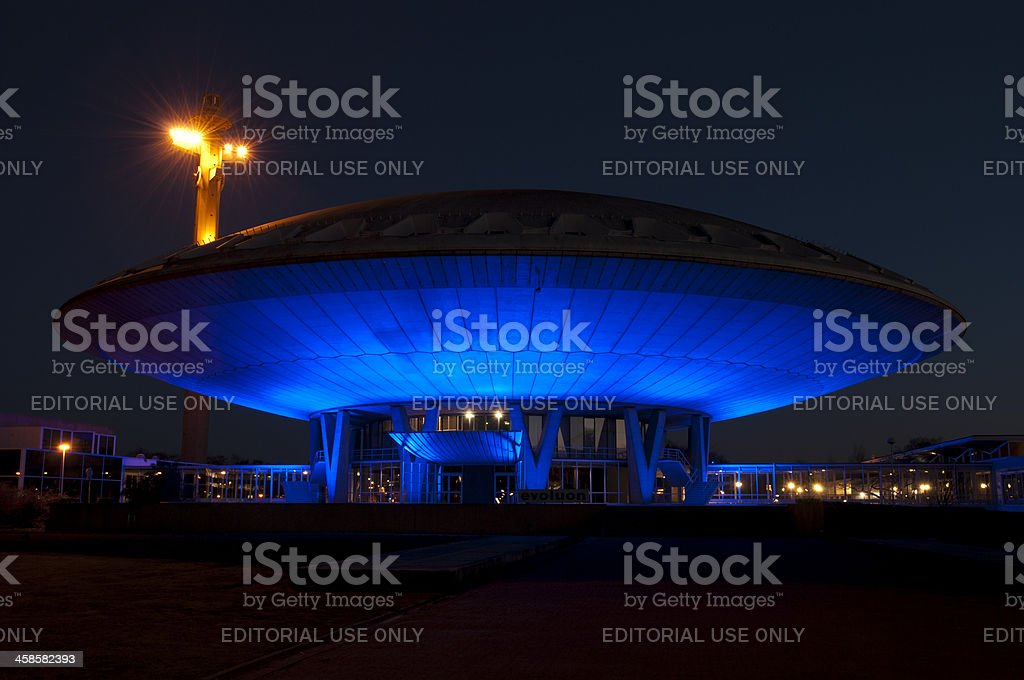 Evoluon building in Eindhoven stock photo