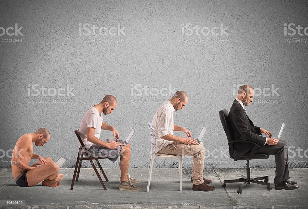 Evolution a businessman stock photo